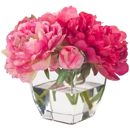 I pinned this Pink Peony in Glass Vase from the Natural Decorations event at Joss and Main!