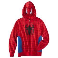 Spiderman Boys' Zip-Up Character Hoodie - Red