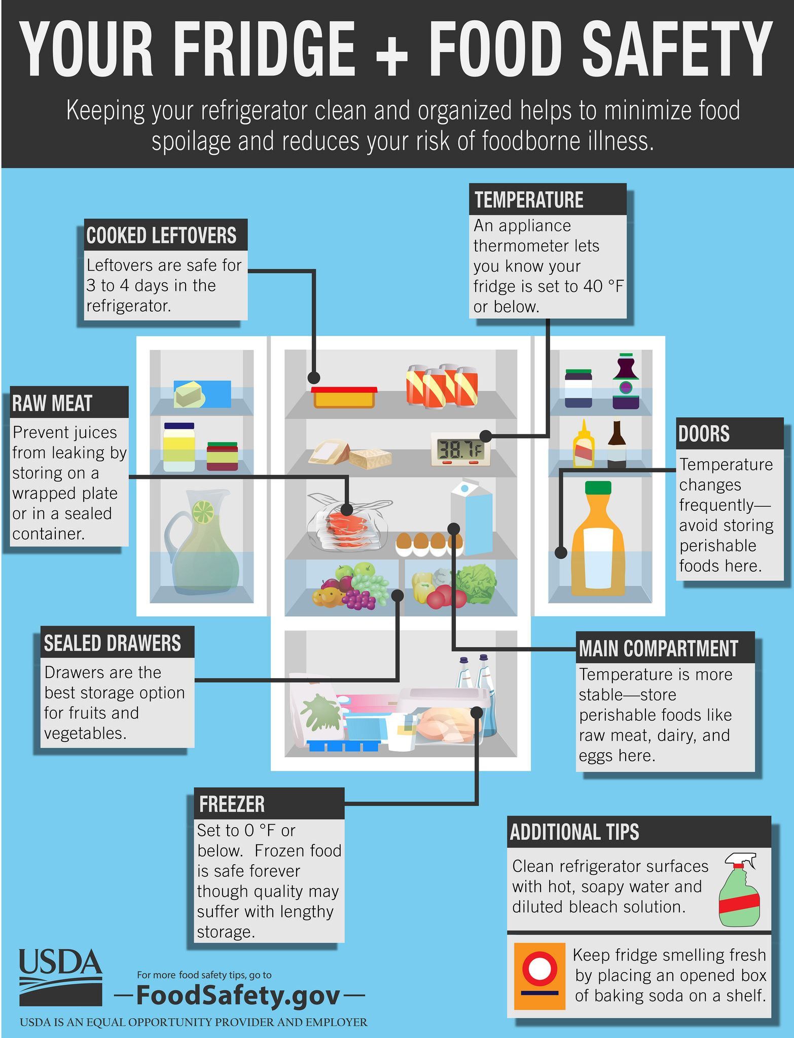 Your Fridge Food Safety Infographic Food Safety Infographic Food Safety And Sanitation Food Safety Chart