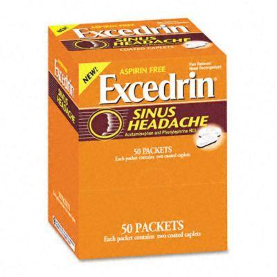 Excedrin Sinus Headache Refill, 50 Two-Packs $30.79