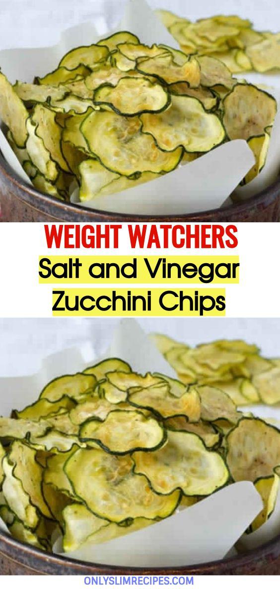 Photo of Salt and Vinegar Zucchini Chips – 2 Smartpoints // #weightwatchersrecipes #sma…
