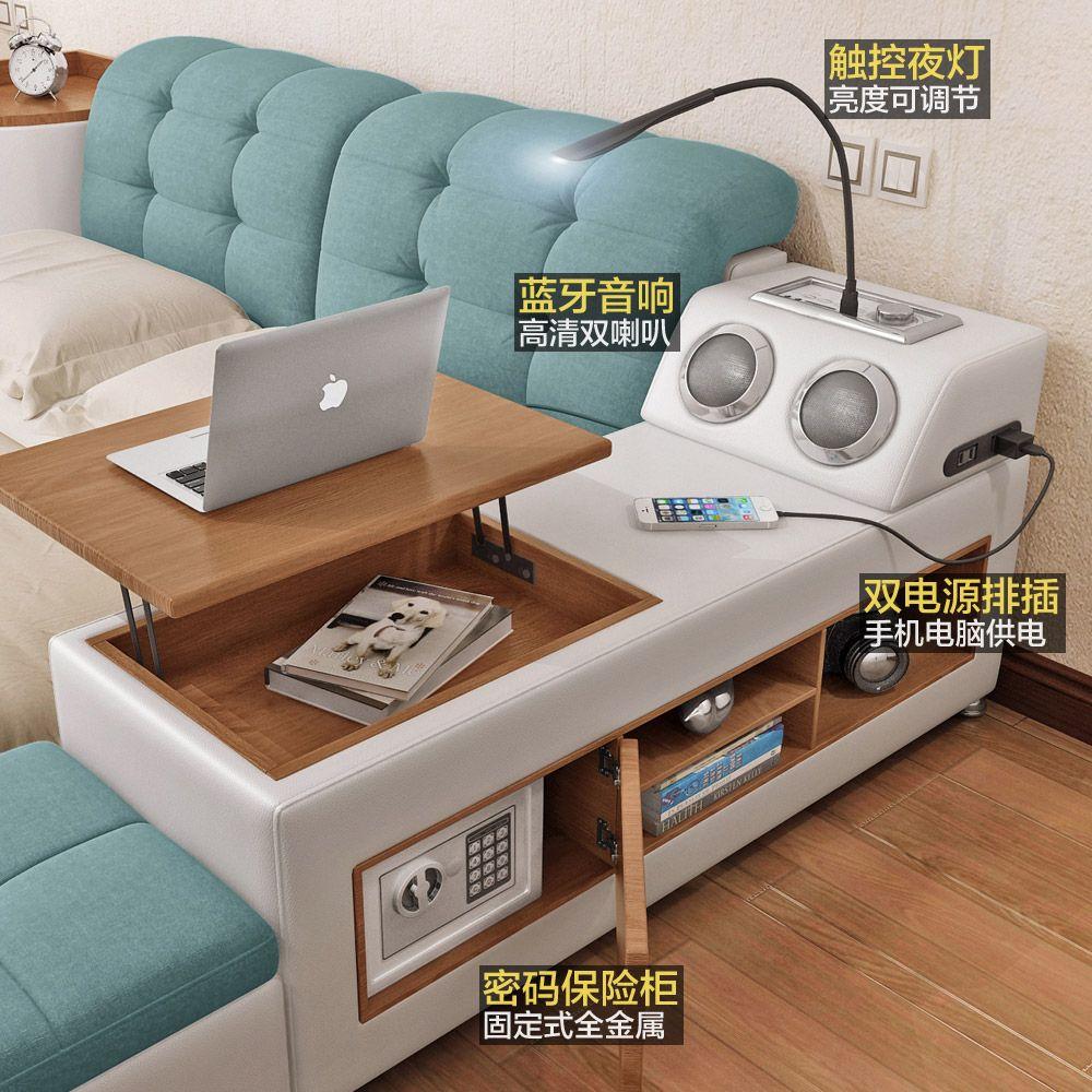 USD 659.02] Tatami bed master bedroom modern simple storage bed ...