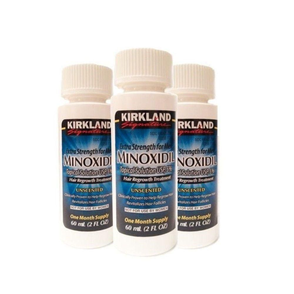 Kirkland minoxidil 5 extra strength men hair regrowth