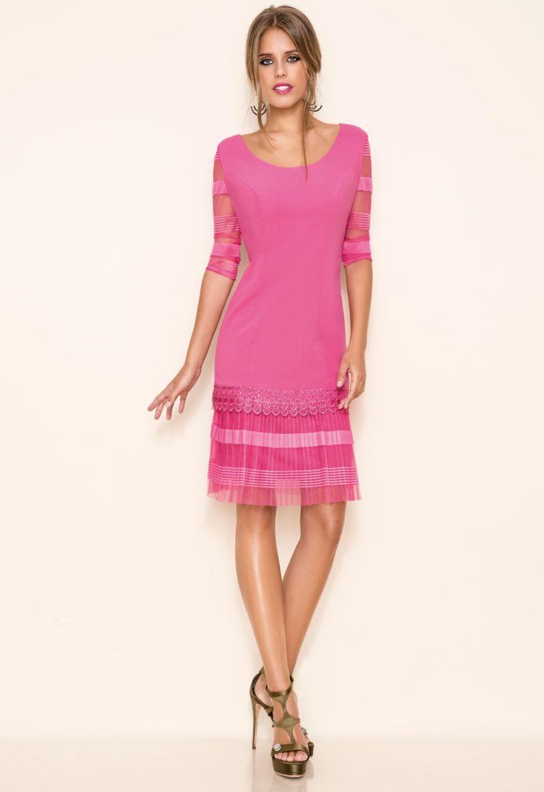 vestidos-de-comunion-para-madres-encaje-rosa-chicle | .mama ...