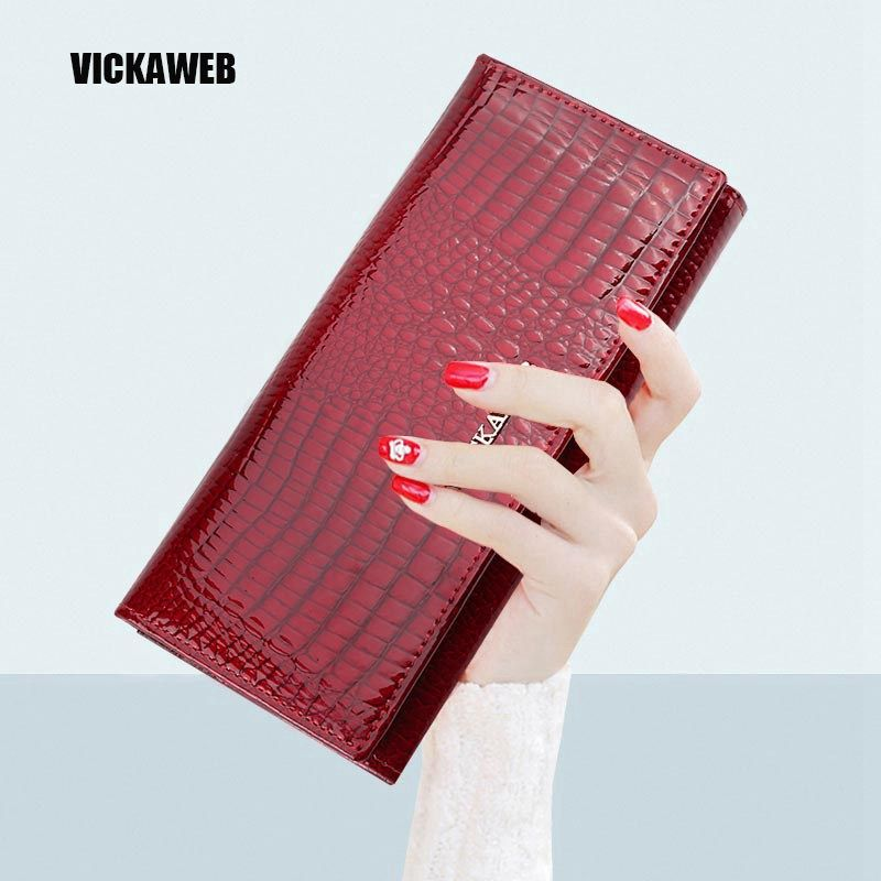 Women Wallets Genuine Leather Wallet Female Purse Long Coin Purses Holders Ladies  Wallet Hasp Fashion Womens Wallets And Purses 67b601f421be