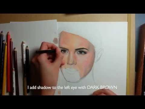 Coloring skin with colored pencils - Part 1 | Emmy Kalia - YouTube ...