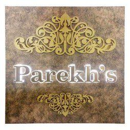 Led Rectangular Indoor Nameplate Parekhs Name Plate