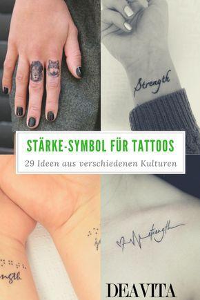Stärke tattoo für symbol und kraft Symbol für
