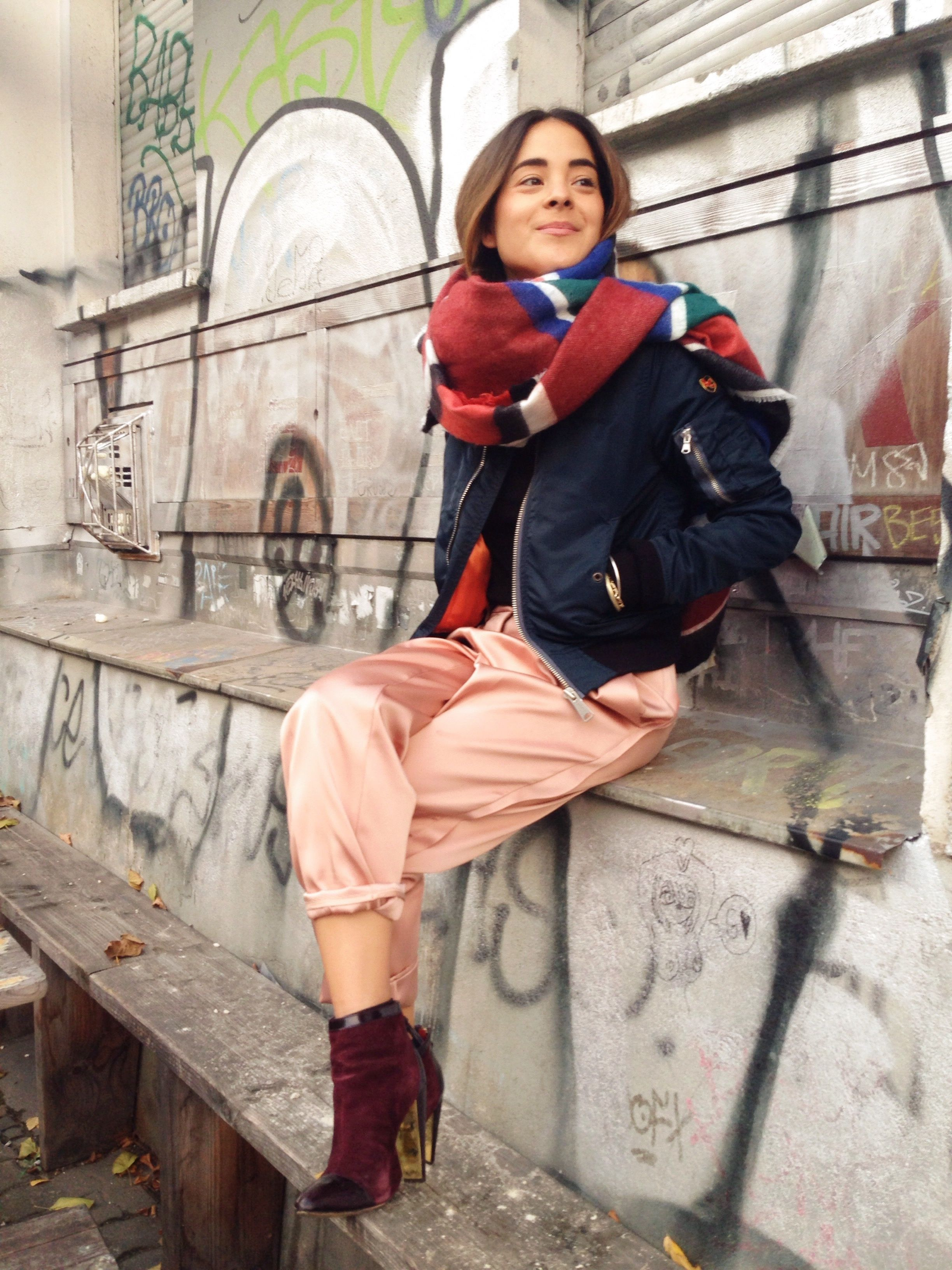 Mika Moriyama via www.journelles.de Scarf - Zara, shoes - French Connection