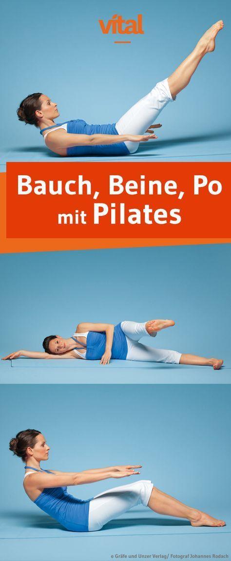 Bauch Beine Po die drei besten Pilates-Übungen