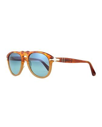 649-Series Sunglasse 649-Series Sunglasses, Orange/Tortoise by Persol at Neiman Marcus.