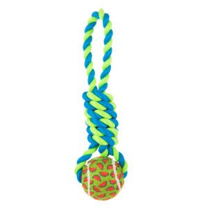 Top Paw® Tennis Knot Tug Dog Toy (COLOR VARIES)   Toys   PetSmart ...