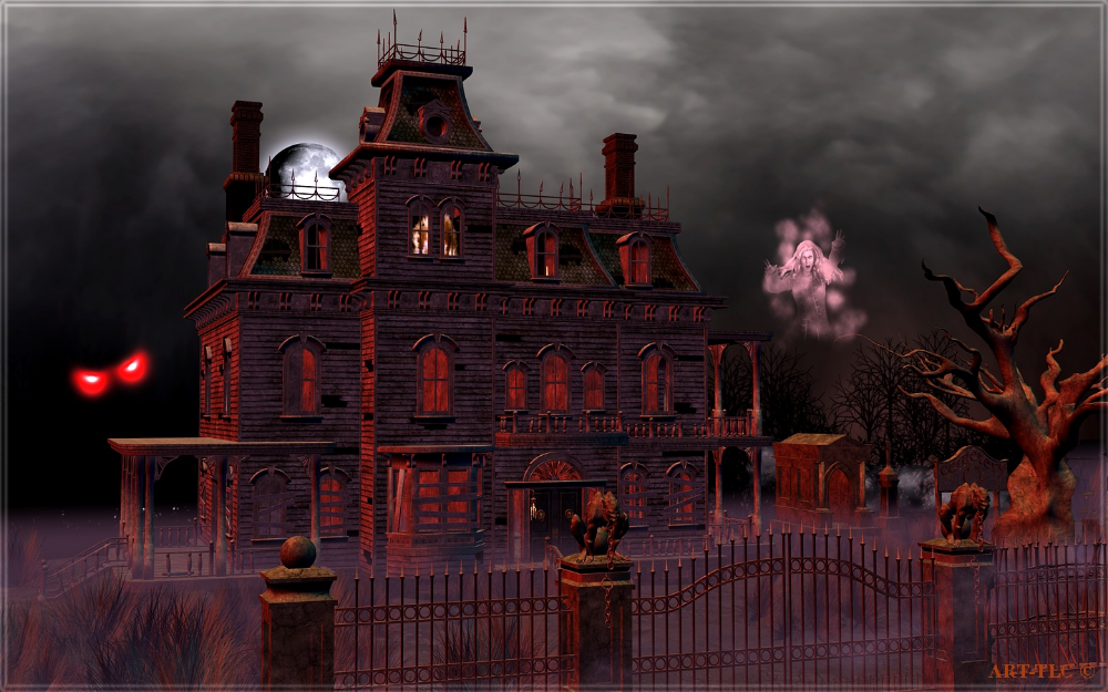 Haunted House Halloween Wallpapers 4k Full Hd Mobile Desktop Everesthill Com Haunted Mansion Wallpaper Halloween Haunted Houses Halloween Wallpaper