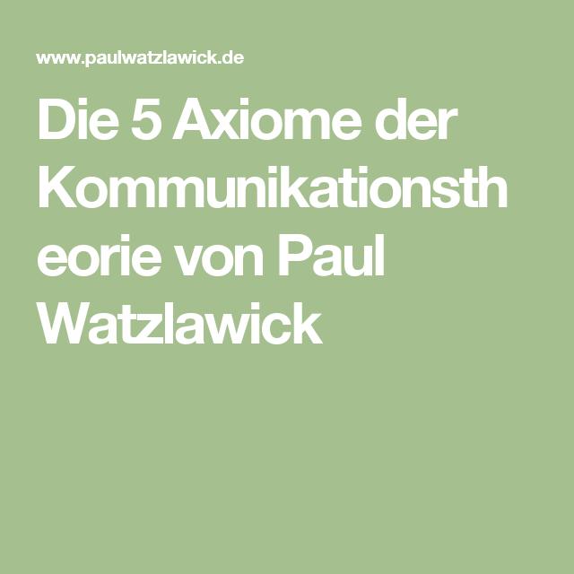 Kommunikationsmodell unterricht watzlawick Schulz von