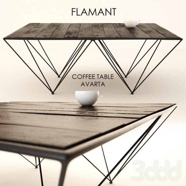 Flamant / COFFEE TABLE AVARTA | мебель 3ддд | Мебель, Модели