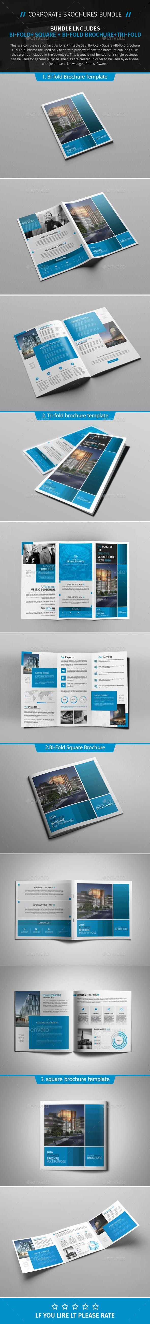 Brochure Bundle 05  — PSD Template #ad #clean • Download ➝ https://graphicriver.net/item/brochure-bundle-05/18200877?ref=pxcr