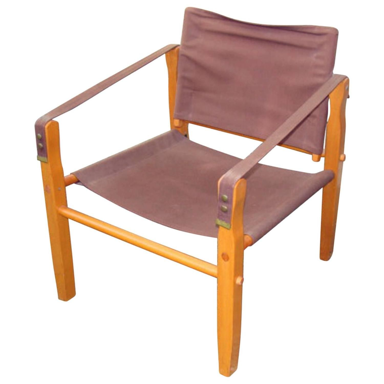 Ordinaire Rare Gold Medal Mid Century Safari/Camp Chair 1
