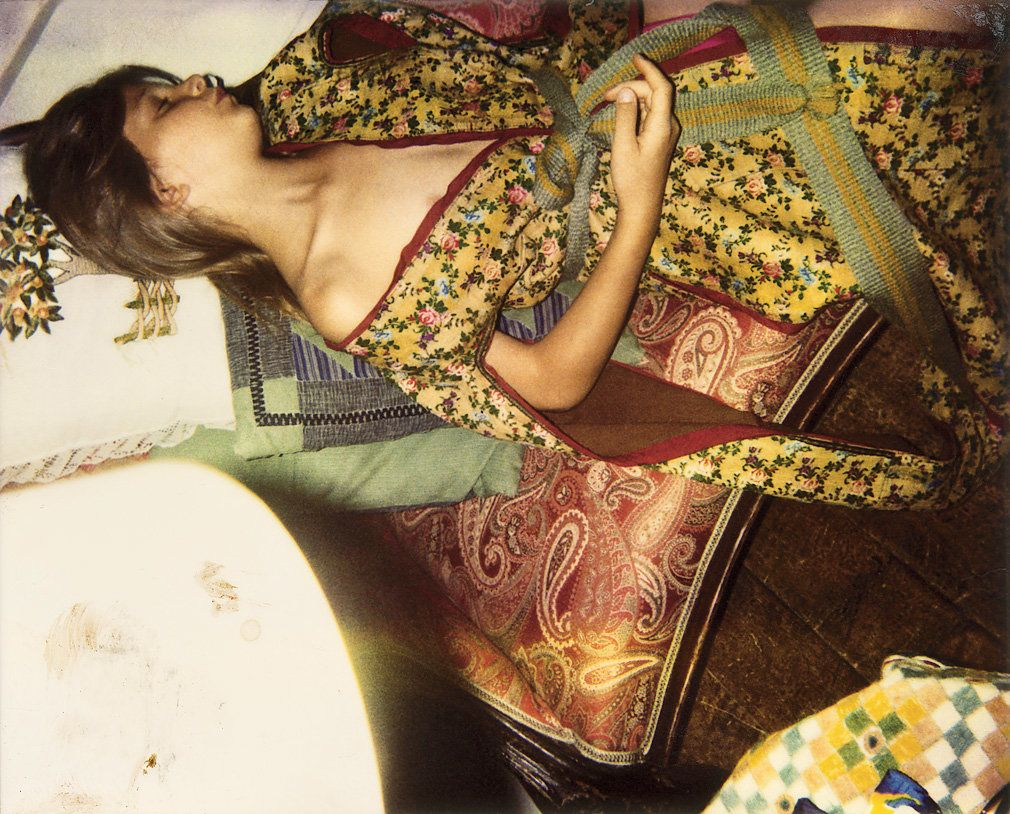 """""""In the last 10 years of his life, my father's eyesight became really bad, so he started using Polaroids. The model, Anna, posed for him from when she was 7 until her 18th or 19th birthday, each Wednesday. He worked until the last moment."""" Courtesy of Harumi Klossowska, photo by Balthus"""