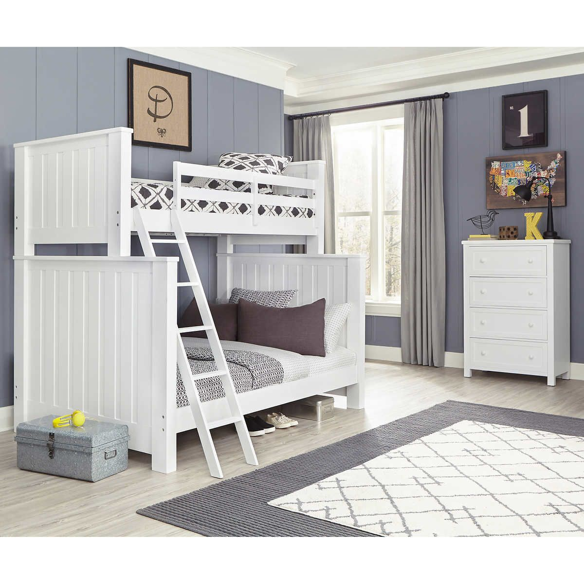 Monaco 2 Piece Twin Over Full Bunk Bed Set Bunk Bed Decor Bunk Beds Cool Bunk Beds