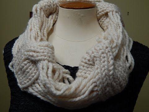 Patrón para que tejas un cuello/bufanda infinito o cocoon, que tapa ...