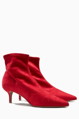 91d6c57ff0d Red Kitten Heel Sock Boots | Shoes, shoes, shoes...oh, did I mention ...
