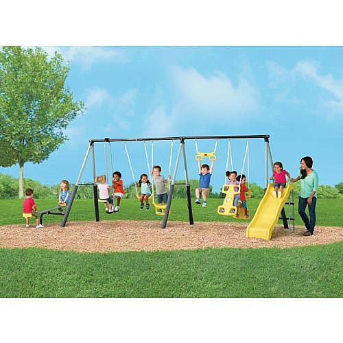 Castleton Swing Set With Slide Seesaw And Fun Troxel Products