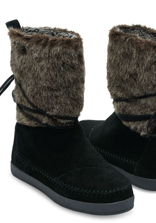 4f6d02fc940 We traveled to the highlands of Nepal and came back with the perfect  inspiration for a winter boot. Designed in suede and faux hair.