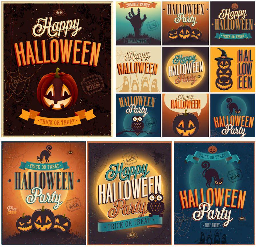 Vintage halloween party invitations vector 2013 free vector vintage halloween party invitations vector 2013 stopboris Image collections