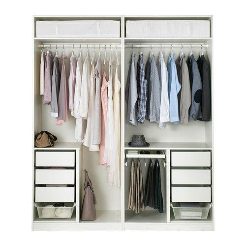 Kleiderschrank ikea pax  PAX Kleiderschrank, weiß, Tanem Vikedal | Pax wardrobe, Soft ...