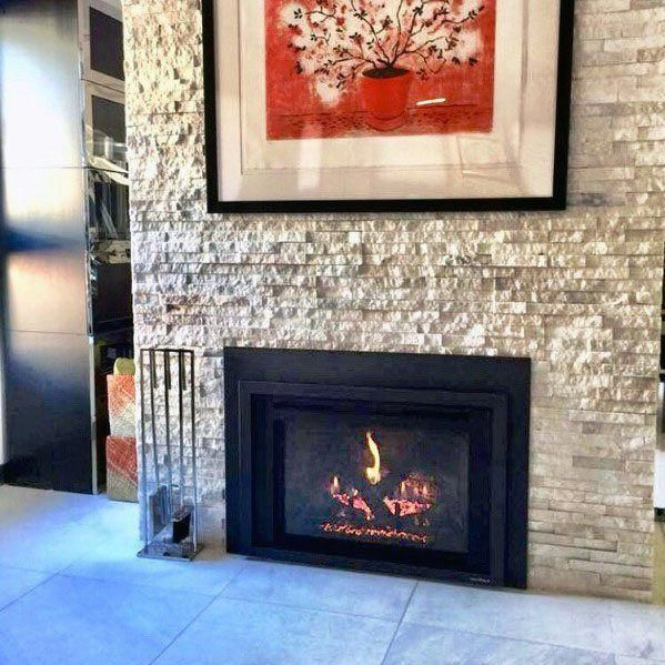 I Really Love This Perfect Fireplace Modernas Fireplacemodernas With Images Stacked Stone