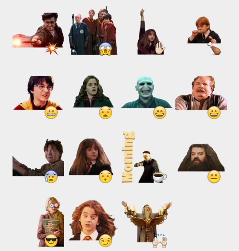 Harry Potter Stickers Set Telegram Stickers Telegram Stickers Harry Potter Stickers Sticker Set