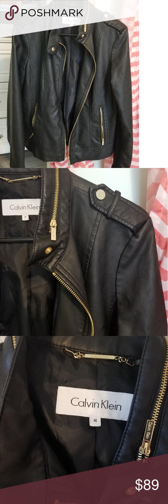 Calvin Klein Faux Leather Jacket Nwot Faux Leather Jackets Fashion Leather Jacket [ 1740 x 580 Pixel ]
