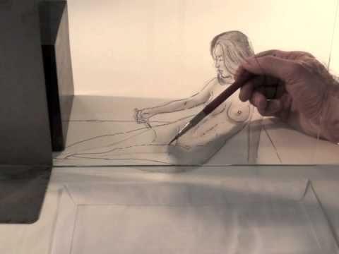 Sorprendente dibujo en 3D  Figura femenina  DIBUJANDO