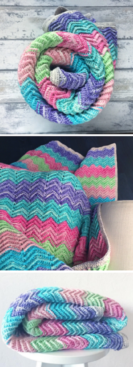 Textured Chevron Blanket – Free Crochet Pattern | Manta, Tejido y Cobija