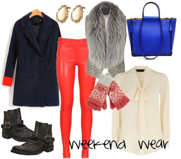 """""""weekend wear; titillating tangerine"""" by ms-beltempo on Polyvore"""