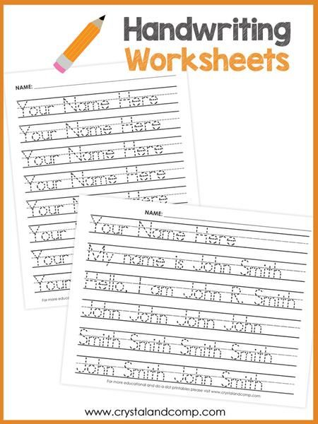 Handwriting Worksheets for Kids (You Can Customize and Edit) | Kind