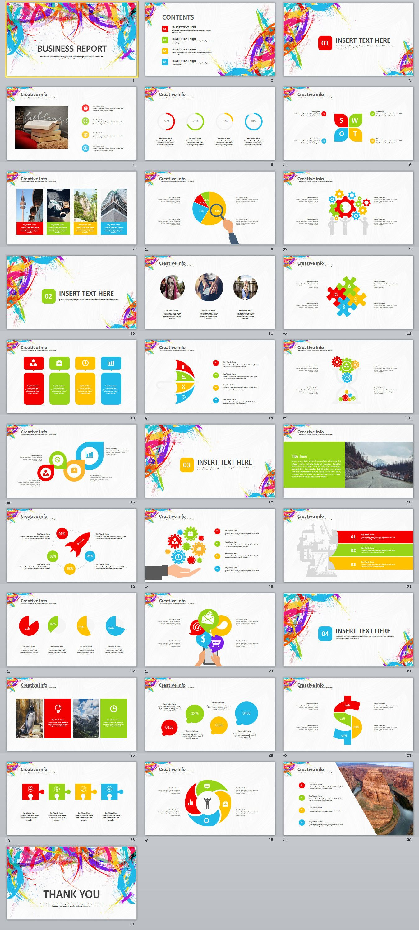 31 Creative Business Report PowerPoint Template Powerpoint Templates Presentation Animation