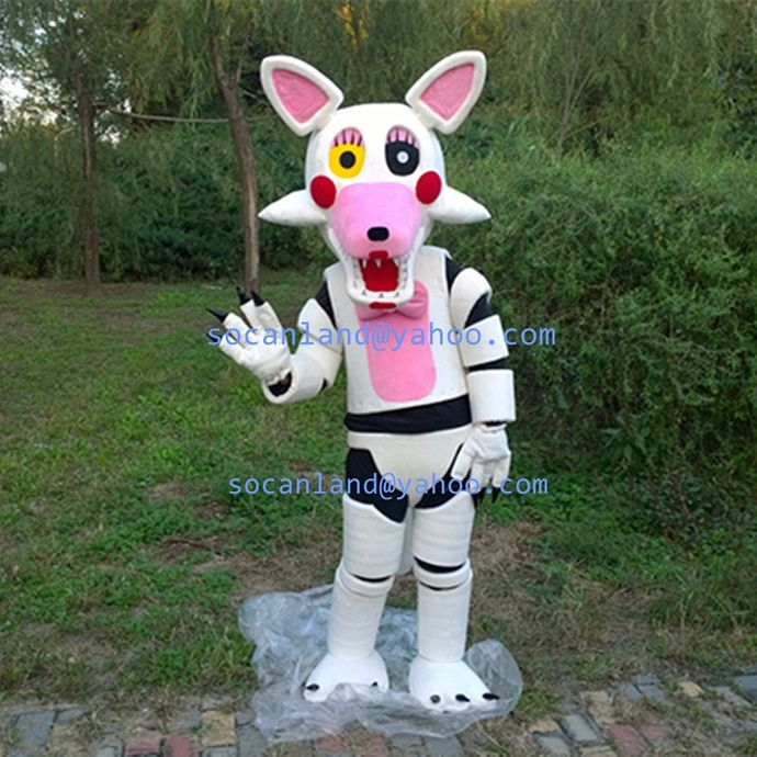 FNAF Mangle Costumes,FNAF Mangle Cosplay,FNAF Kids,FNAF Costumes,FNAF Mangle Adults,FANF Mangle Invitation,FNAF Mangle Birthday,FNAF Party by CartoonMascotCostume, $245.00 USD