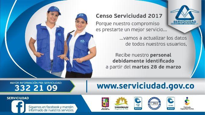 El personal que llegará a los hogares dosquebradenses estará identificado con camiseta blanca, chaleco y gorra azul con el logo de la empresa Serviciudad.