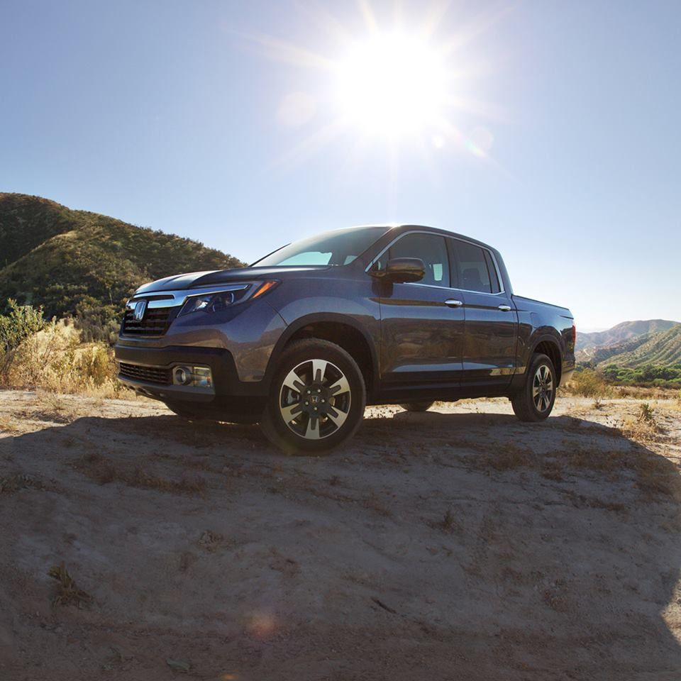 We Finally Found A Big Enough Spotlight For The Ridgeline Http Www Rensselaerhonda Com New Vehicles Ridgeline Honda Ridgeline Vehicles Honda