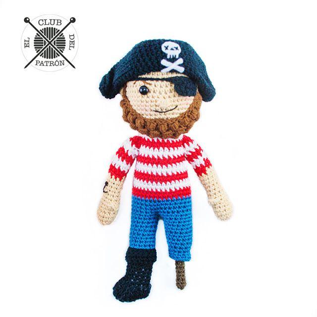 El Club del Patrón: El pirata de amigurumi (El blog de Dmc ...