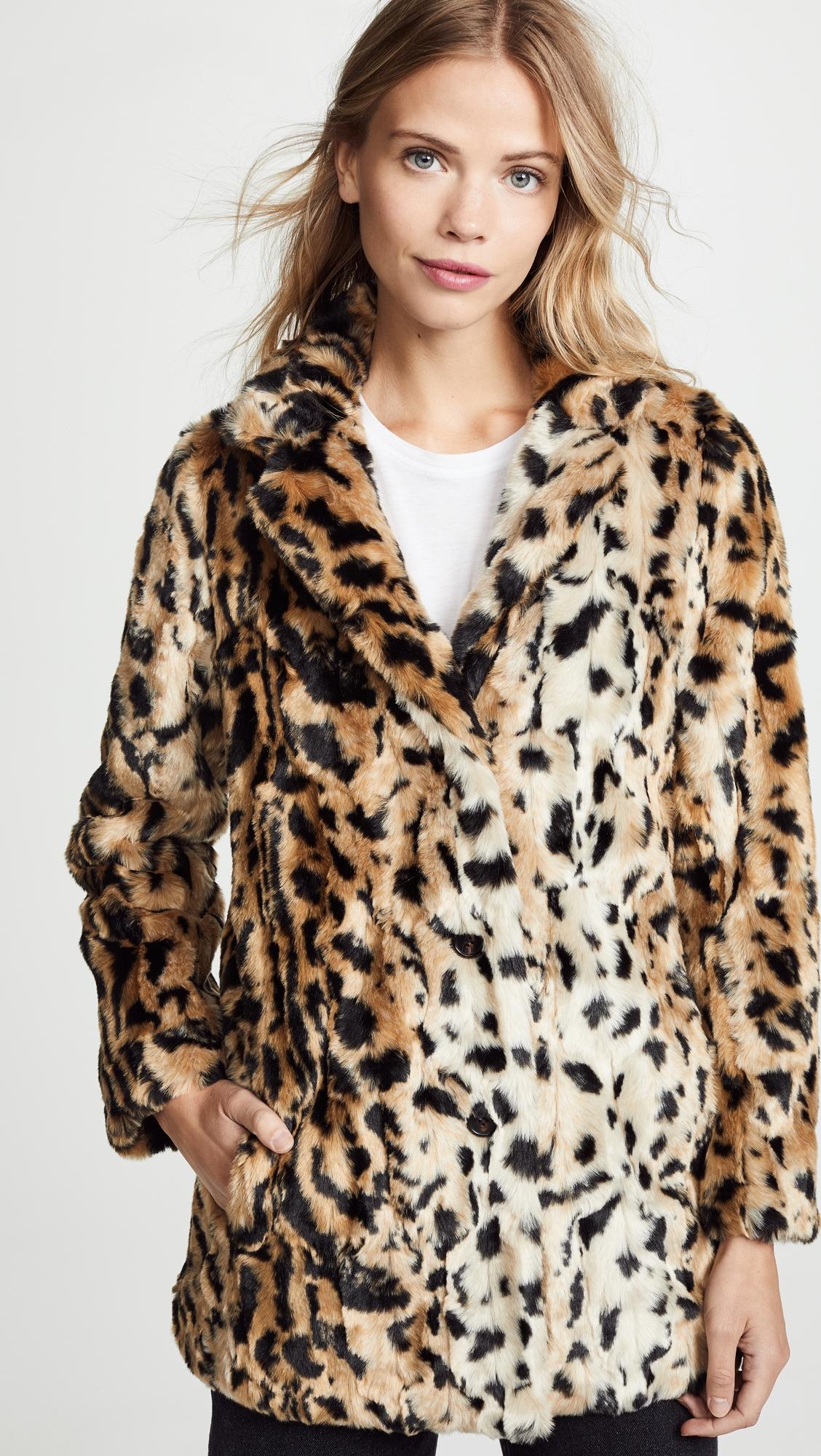 de5939eb543b Juliana Faux Fur Leopard Coat | Products | Leopard coat, Fur, Coat