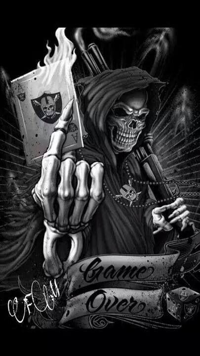 Raider Nation Grim Reaper Tattoo