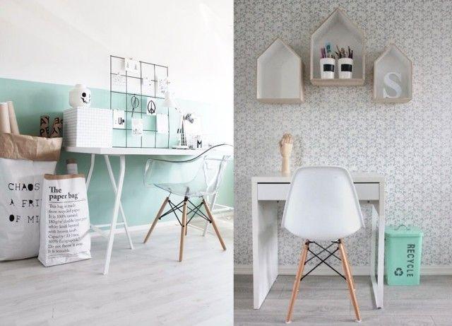 Inspirations pour une déco vert menthe bureaus mezzanine and