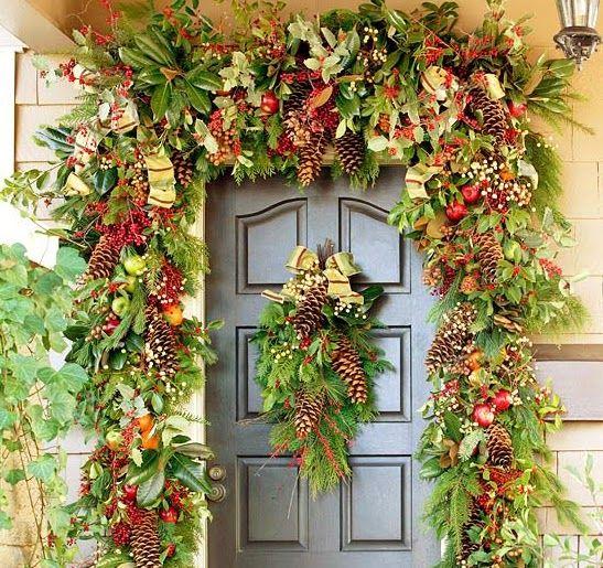 Resultado de imagen de decoraci n de puertas para navidad for Decoracion de puertas para navidad