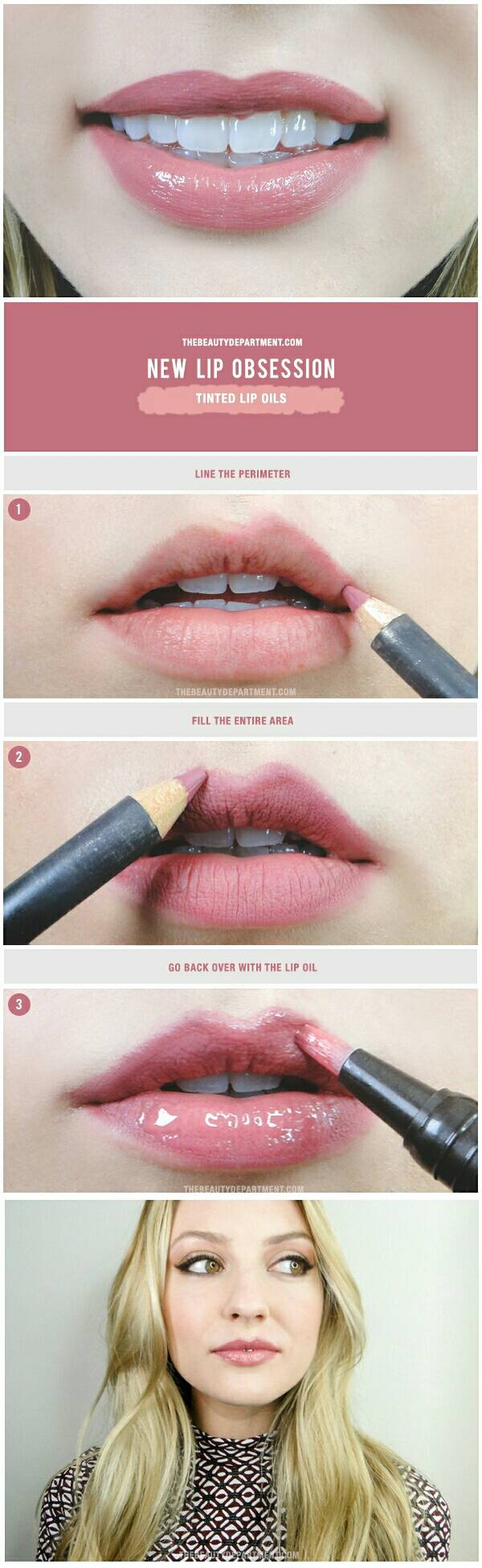 The Beauty Department: Your Daily Dose of Pretty. - TINTED LIP OIL