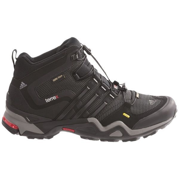 4c292519ad759 Adidas Outdoor Terrex Fast X Mid Gore-Tex® Hiking Boots - Waterproof (For  Men) in Black Core Energy