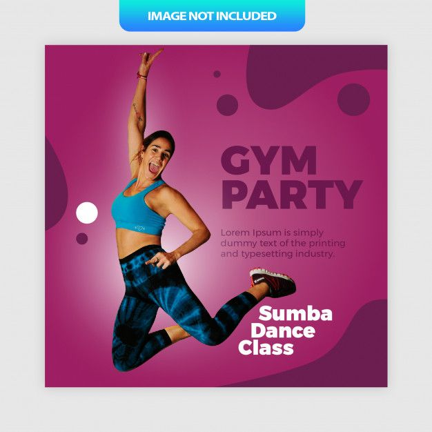 Gym party sumba dance social media post ... | Premium Vector #Freepik #vector #banner #party #woman...