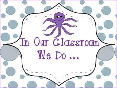 "Ocean Theme ""In Our Classroom We Do"" ... Poste"