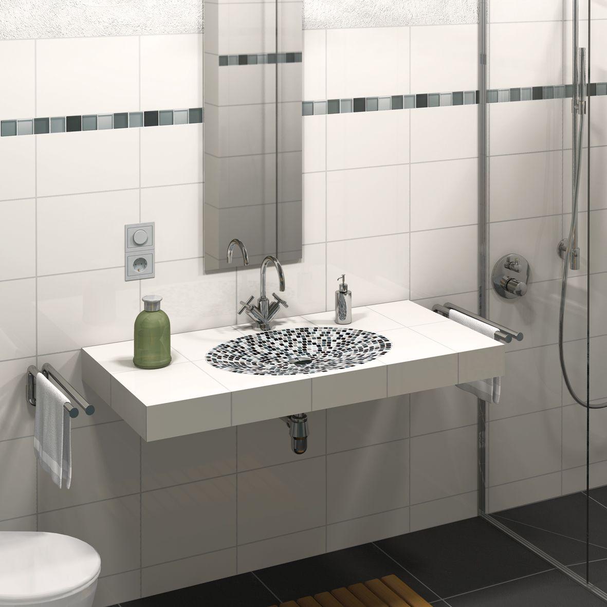 Fliesenschiene24 Waschtisch Befliesbar Mit Elliptischer Mulde Waschtisch Waschbecken Wasche
